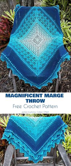 One of the greatest aspects of crocheting is that you can combine known stitches in new ways to produce unique and entirely novel items. Here are some projects Simply Crochet, Crochet Bebe, Afghan Crochet Patterns, Crochet Stitches, Baby Blanket Patterns, Crochet Borders, Crochet Squares, Cross Stitches, Dress Patterns