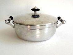 Mid Century Hammered Aluminum Covered Dish, Made in Spain by GentlyKept on Etsy