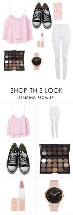 """Untitled #13"" by sandra-nadja ❤ liked on Polyvore featuring MANGO, Topshop, Converse, Rimmel and Miss Selfridge"