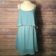 BLACK FRI SALE 25% OFF ALL BUNDLES ends Nov 30 NWT from LAs fashion district, you will be seeing this dress rocking stores this season!! This is a one of a kind sample dress NWT. Size small. Blue dress with white polka dots and lace accent!  NO TRADES/PAYPAL! Fast shipping! No swaps! Have questions on the size? Ask! I'm happy to provide all measurements! Dresses