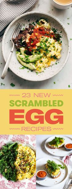23 Mouthwatering Ways To Upgrade Scrambled Eggs - 23 Easy Scrambled Egg Recipes That'll Make You A Morning Person Best Picture For crockpot recipe - Brunch Recipes, Diet Recipes, Breakfast Recipes, Healthy Recipes, Healthy Egg Recipes For Dinner, Easy Egg Recipes, Avocado Recipes, Healthy Snacks, Recipies