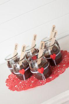 Glass Pudding jars - 6. $20.00, via Etsy.
