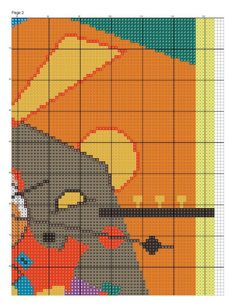 Schematic cross stitch Kandinsky 2