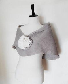 Wedding Shawl Bridal Wraps Shrugs Silver Grey by softadditions, £40.00
