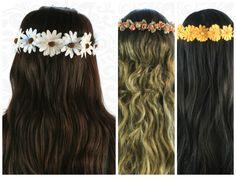 Corona de Flores de Colores  / Moda para el cabello / Accesorios / Cabello Largo Peinado Updo, Hawaiian Luau, Updos, Band, Party, Accessories, Fashion, Silk Flowers, Colorful Flowers