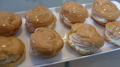 pastry: 1 cup all-purpose flour 1 cup water cup butter or coconut oil, melted 5 large eggs pinch of salt grease for pan filling: 1 cups whole milk cup granulated sugar 1 box. Vanilla Pudding Mix, Vanilla Cream, Whipped Cream, Butter Oil, Choux Pastry, Egg Whisk, Granulated Sugar, Pinwheels, Caramel