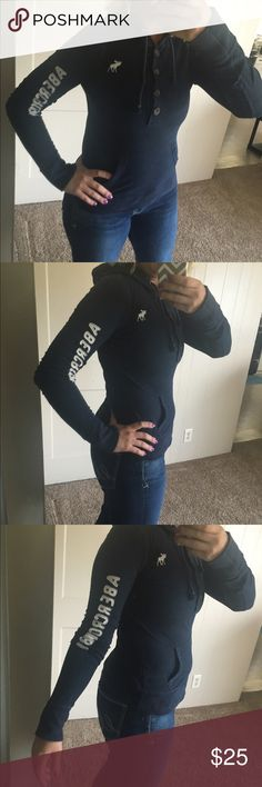 Abercrombie and Fitch Navy blue in great shape Abercrombie & Fitch Sweaters