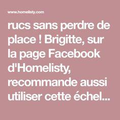 """rucs sans perdre de place ! Brigitte, sur la page Facebook d'Homelisty, recommande aussi utiliser cette échelle dans un dressing : """"ou dans un dressing pour accrocher les foulards, les ceintures"""