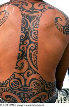 Polynesian tribal back tattoo #polynesian #tattoo