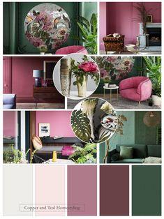 Colour advice enabling you to establish your unique interior style through paint choice. Lounge Colour Schemes, Color Schemes Colour Palettes, Interior Color Schemes, Living Room Color Schemes, Living Room Colors, Green Bedding, Pink Bedding, Colorful Decor, Colorful Interiors