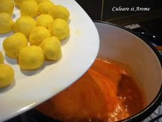 Supa de rosii cu galuste de malai – Culoare si Arome Soup, Eggs, Pudding, Breakfast, Desserts, Diet, Fine Dining, Essen, Morning Coffee