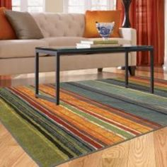 Mohawk Home Rainbow Multi Stripe Rug Rug (8' x 10') | Overstock.com Shopping - The Best Deals on 7x9 - 10x14 Rugs