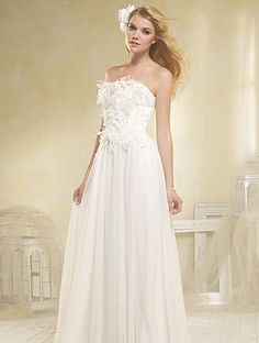 Alfred Angelo Style 8518 Soft Net, Re-Embroidered Lace Crystal Beading, Pearls, Sequins Soft Net and Organza Flowers Optional Spaghetti Straps Sweep Train Sizes: 0 to 26W MSRP: $999.00