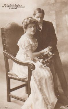 Infanta Eulalia of Spain with one of her sons, Infante Luis Fernando.