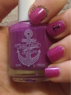 Mani On The Move: Anchor & Heart Lacquer Sunken Treasure #102 Nail Art