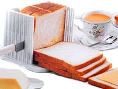 BlastCase Bread Slicer Foldable and Adjustable Bread Toast Slicer Bagel Slicer Loaf Sandwich Bread Slicer Toast Slice Cutter Mold with 4 Slice Thicknesses (white) Kitchen Tools, Kitchen Gadgets, Kitchen Dining, Kitchen Craft, Kitchen Appliances, Buy Kitchen, Small Appliances, Slice Cutter, Slice Tool