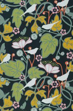 Labama | Papel pintado floral | Patrones de papel pintado | Papeles de los 70