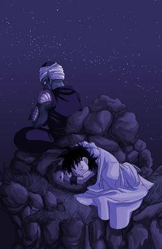 Piccolo y Gohan: Gohan era ya un hombre,pero él quiso ver al niño...