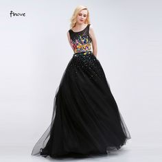 Women Long Black Evening Dress 2017 Sexy Tank Sleeveless Lace Tulle  Appliques Ball Gown Formal Prom 805a2b21b48b