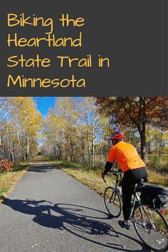 Minnesota's Heartland State Trail slices right through the heart of northern Minnesota. Over its 49 mile length you can bike (or hike) between Pa Park Rapids Minnesota, Itasca State Park, Small Lake, Mountain Bike Trails, Adventure Tours, Heartland, State Parks, Bike Rides, Bicycling