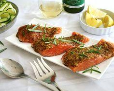 Inspired Edibles: Rosemary Honey Dijon Glazed Salmon ~ an easy, breezy, summer delight