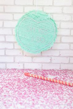 DIY heart shaped pinata