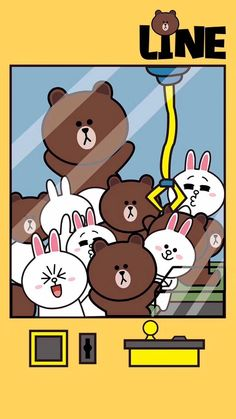 Line friend Lines Wallpaper, Brown Wallpaper, Cute Wallpaper Backgrounds, Cute Cartoon Wallpapers, Cartoon Pics, Hello Kitty Wallpaper, Kawaii Wallpaper, Line Cony, Teddy Beer