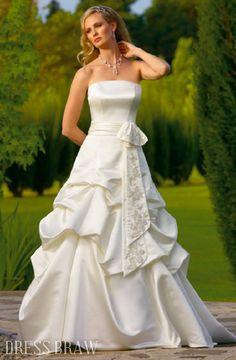 A-Line/Princess Strapless Chapel Train Wedding Dresses 2011 style WDA1189 : Dressbraw.com