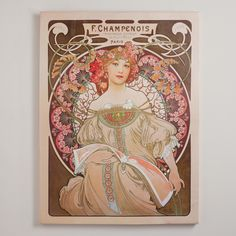 """Capturing the Art Nouveau style popular throughout Europe in the late 19th and early 20th centuries, this dreamy portrait by Czech artist Alphonse Mucha was originally designed for a calendar but became so popular that it was featured as a decorative page in a French magazine instead. It comes as no surprise that the English translation of its French title means, """"daydream."""""""