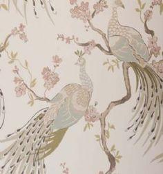 Clarke & Clarke  Indira Wallpaper - Pastel w0019-01