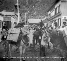 Supply train for Argentine, Sixth Street in Georgetown, by George Dalgleish, ca. 1890-1902. :: History Colorado
