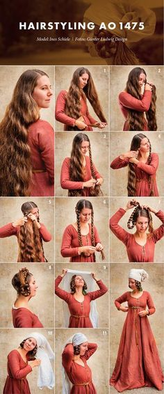 Julia: This hairstyle would be perfect for Helga because it isn't very feminine or fancy. Also this hairstyle makes sense because in the medieval times the woman were supposed to cover their hair with hats.