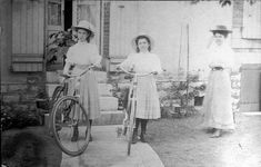 Vintage Photos of Women Posing With Bicycles from the Victorian and Edwardian Eras