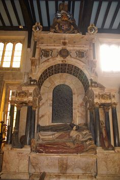 Tomb of Frances the 6th Earl of Rutland -  known as The Witchcraft Tomb. Bottesford  Worcs. UK