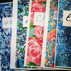 DIY Lilly Pulitzer binder covers