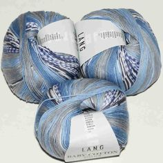Was Ist Bio, Lang Yarns, Crochet Yarn, Fiber, Juni, Tricot, Blue Denim Jeans, Blue And White, Paint Run