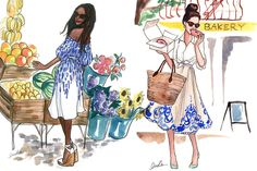 Inslee fashion illustrations
