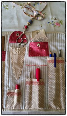 Sewing Case, Sewing Kit, Love Sewing, Bag Patterns To Sew, Sewing Patterns, Sewing Crafts, Sewing Projects, Tool Belt, Needle Book