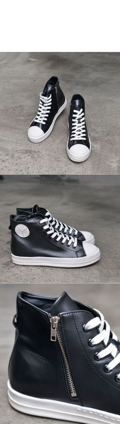 Shoes :: Urban Leather High Top Sneakers-Shoes 470 - Mens Fashion Clothing For An Attractive Guy Look