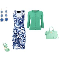 """Cool Summer - blue/mint"" by adriana-cizikova on Polyvore"