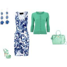 """Cool Summer - blue/mint"" by adriana-cizikova on Polyvore"