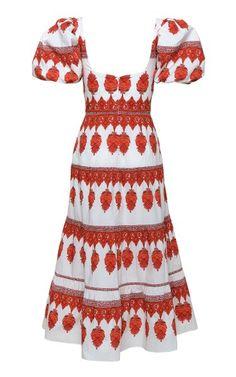 Culture Cotton Midi Dress By Johanna Ortiz | Moda Operandi Tiered Dress, Hemline, Cold Shoulder Dress, Short Sleeves, Culture, Summer Dresses, This Or That Questions, Cotton, Fashion Design