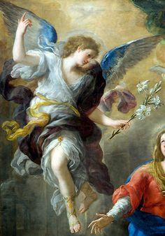 Luca Giordano - Annunciation (détail)