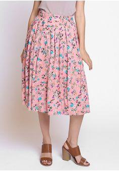 Prescott Floral Midi Skirt  at shopruche.com