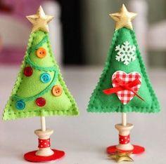 Tutoriels sapins de Noël en feutrine