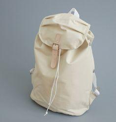 white rucksack bag pack