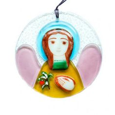 Fused Glass Pendant Angel, Starting at: $13.00.  http://catalog.obitel-minsk.com/catalogsearch/result/index/?cat=77&q=angel  #CatalogOfGoodDeeds #CatalogOfStElisabethConvent #handmade #Christmas #present #gift  #angel #souvenir #love #home #happy #orthodoxculture #religion #faith #Christian #Christianity #glass