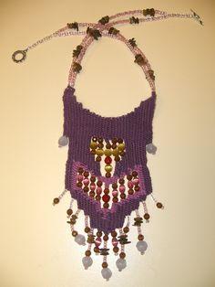 Anastasia Iordanaki- necklace: cotton, glass beads