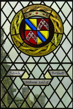Patrick Hepburn, Earl of Bothwell. Stained Glass Window, Great Hall, Stirling Castle.