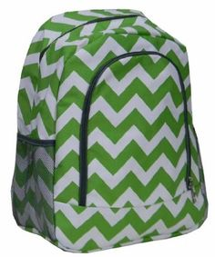 Amazon.com: Chevron Green and White School Cheer Gym Backpack / Book Bag: Sports & Outdoors